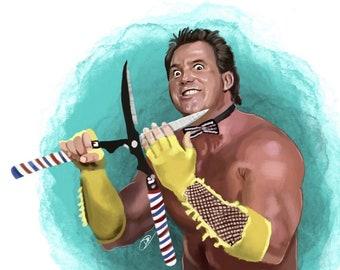Brutus The Barber Beefcake Art Print | WWE