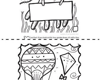 Printable Colouring Sheet 12 - Squibbles - Kids activities