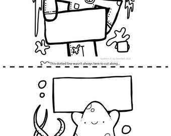 Printable Colouring Sheet 11 - Squibbles - Kids activities