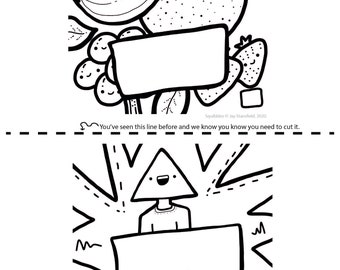 Printable Colouring Sheet 8 - Squibbles - Kids activities