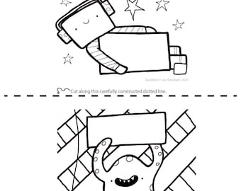 Printable Colouring Sheet 3 - Squibbles - Kids activities