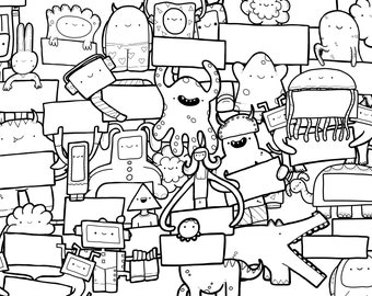 PRINTABLE Squibbles - Colouring Activity Page A4 DOWNLOAD