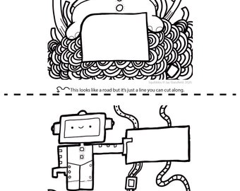 Printable Colouring Sheet 10 - Squibbles - Kids activities