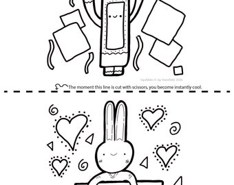Printable Colouring Sheet 9 - Squibbles - Kids activities