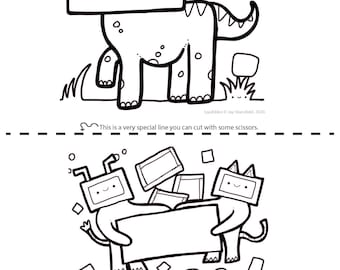 Printable Colouring Sheet 6 - Squibbles - Kids activities