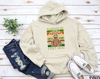 SASHAY AWAY SLOGAN HOODED CROP HOODIE FASHION TOP PULLOVER CHRISTMAS GIFT
