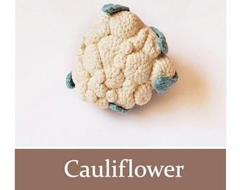 CAULIFLOWER Crochet Pattern PDF - Play Food Realistic Vegetables Digital Crochet Food Pattern