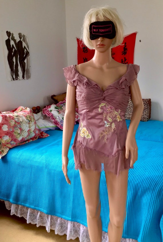 Mandalay Silk Beaded Bustier Tunic Top