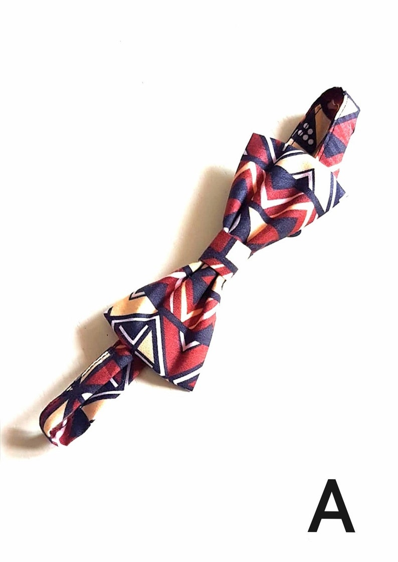 multicolored Ankara Men/'s bow tie in African fabric African Wax