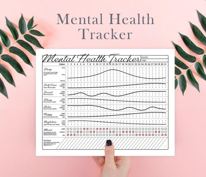 Mental Health Tracker  Printable/Instant Download image 0