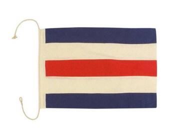 "Nautical Signal Wooden FLAG Decorative Letter /""U/""Coastal Handmade Wall Plaque"