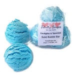 eucalyptus SPEARMINT, bubble bath, solid Bar, organic vegan, bubble bath for kids, ice cream scoop bubble bars, easter basket stuffers