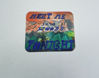 Good For Nothin Tombstone Vinyl Sticker Waterproof Black White Daisy Flower Lord Huron