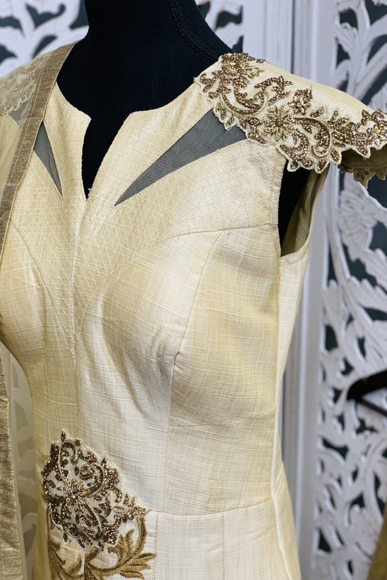 Off-White Anarkali Suit