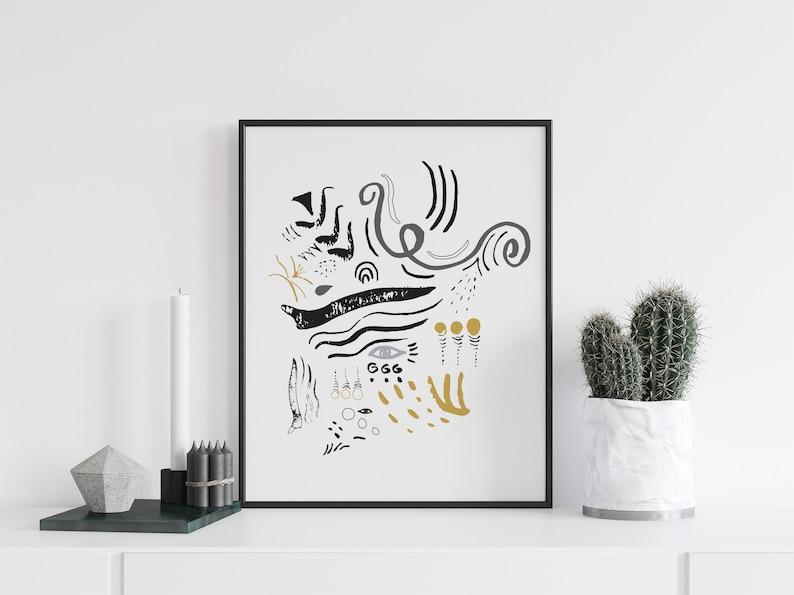 Download art Wall art abstract eye print Modern digital image 0
