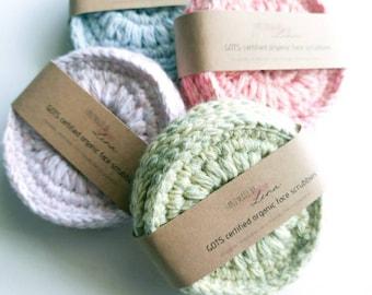 GOTs Certified Cotton Cloud9 fabric from Cloud9 Knits, ORGANIC Interlock Knit green White polkadots DOTS print SALE 1 yard @ 6.90