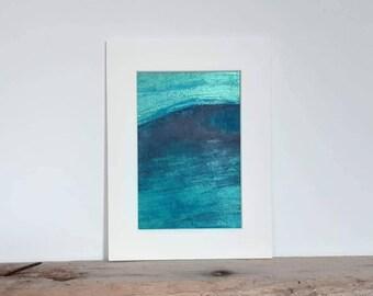 Abstract acrylic painting - Original - Mounted art - Unframed art