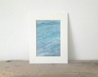 Abstract Acrylic Painting on paper- Original artwork - Mounted- Unframed