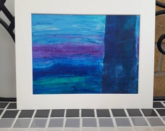 Abstract Acrylic Painting on paper - Original artwork - Mounted - Unframed
