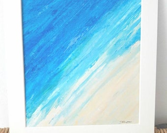 Abstract Acrylic Painting on paper- Original art - Mounted - Unframed