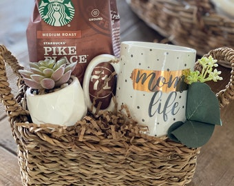 Mom life gift basket/New mom gifts/Gift for Mom/Coffee lover mom/Thinking of you mom/Mom gifts/New mom gift/mom themed gifts/Gift baskets