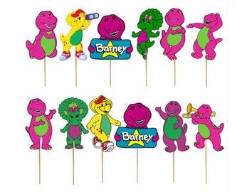 Prime Barney Cake Topper Etsy Personalised Birthday Cards Xaembasilily Jamesorg