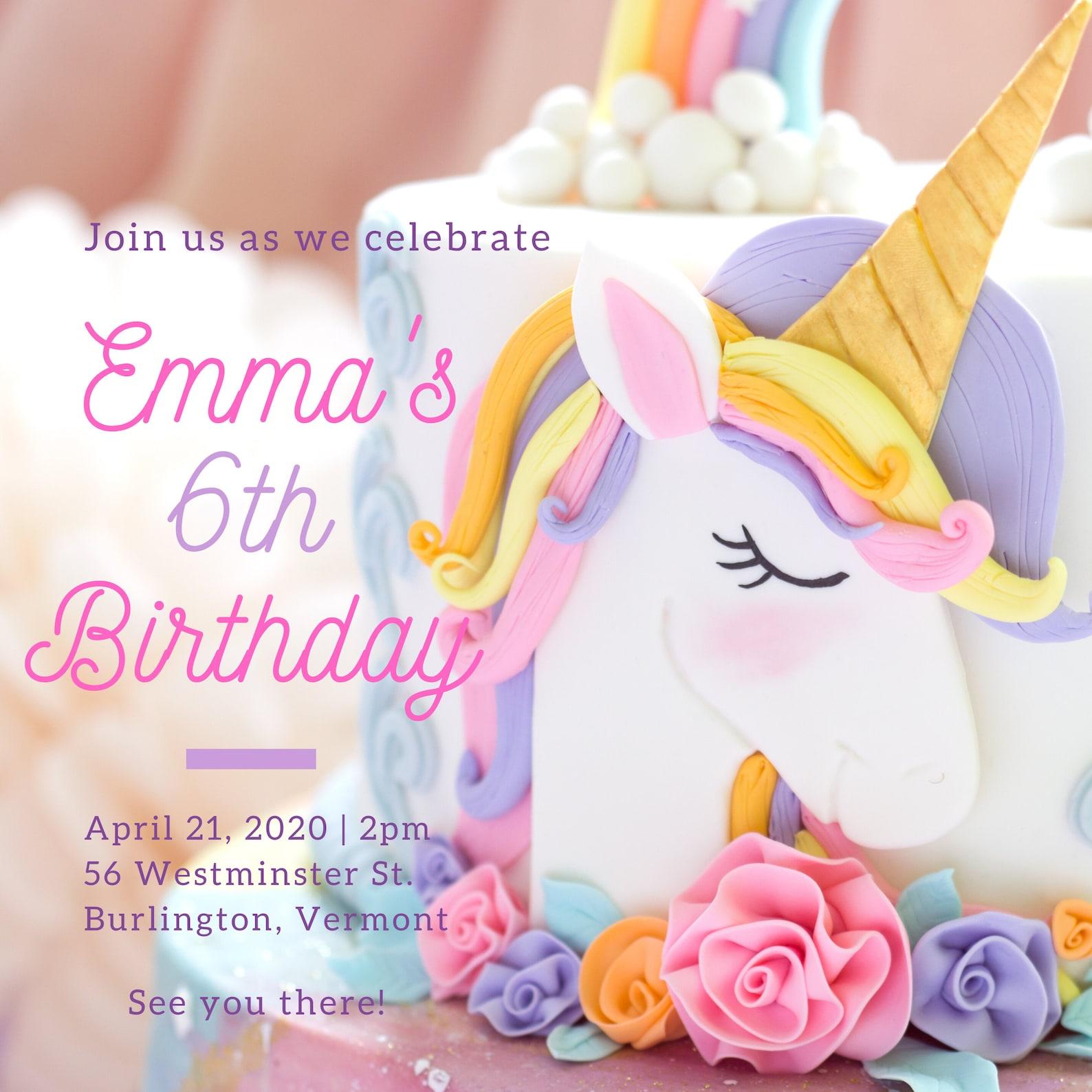 Printable Unicorn Invitations Page Eleven