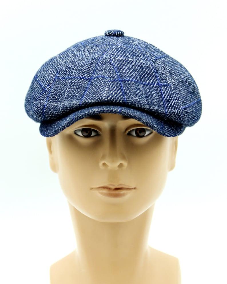 Men/'s autumn spring tweed newsboy cap men/'s checked cap.