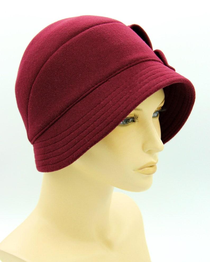 Cloche Hat Veronica Flapper Hat Winter Cloche Hat Cloche -7102