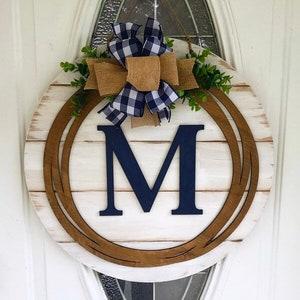 Monogram Door Hanger Etsy