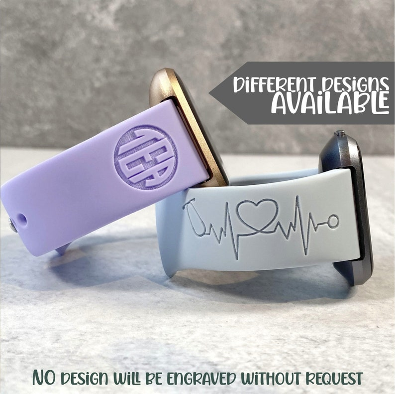 Watchband for Fitbit Versa  HEARTBEAT EKG Collection Engraved image 0