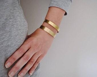 Gold cuff, Minimal bracelet, Wide cuff bracelet, Gold bracelet, Statement bracelet