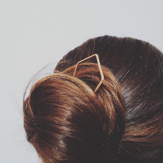 Copper hair pin, Copper hair fork, simple hair pin, hair stick, bun holder, hair accessories, hair jewellery, boho hair