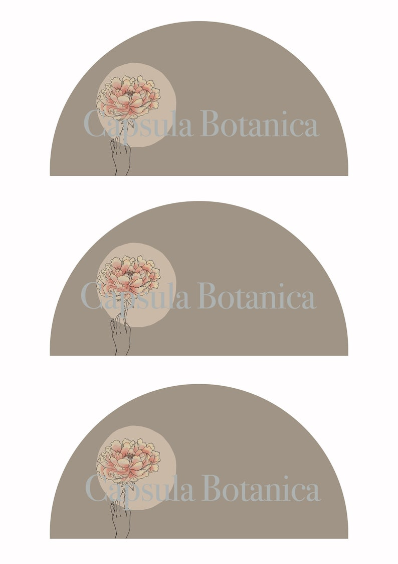 or 1 fan in a sheet peony theme 3 fans in a sheet A4 Printable wedding fans for download customizable with names and date. A3