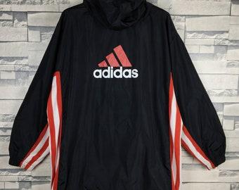 ADIDAS Vintage adidas großes Logo Fullzipper Jacke schönes