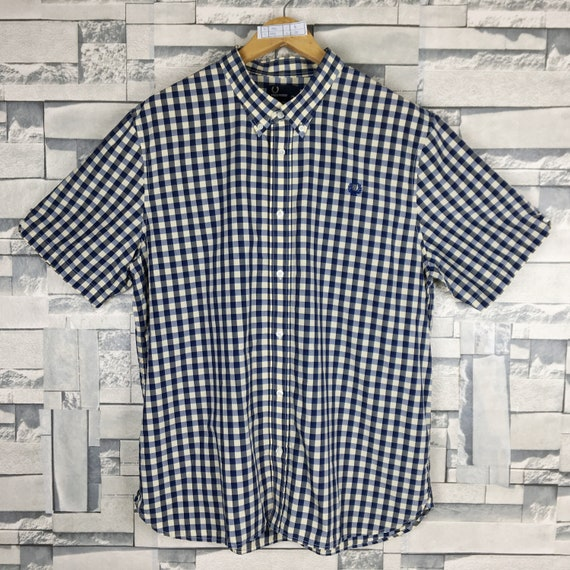 FRED PERRY Shirt X-Large Vintage Fred Perry Checke