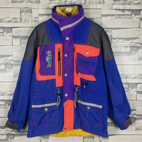 HELI Skiiing Ski Jacket Large Vintage 90s Heli Ski