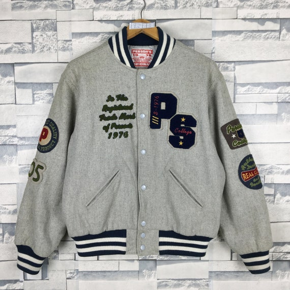 PERSON'S Varsity Jacket Medium Vintage 90s Person'