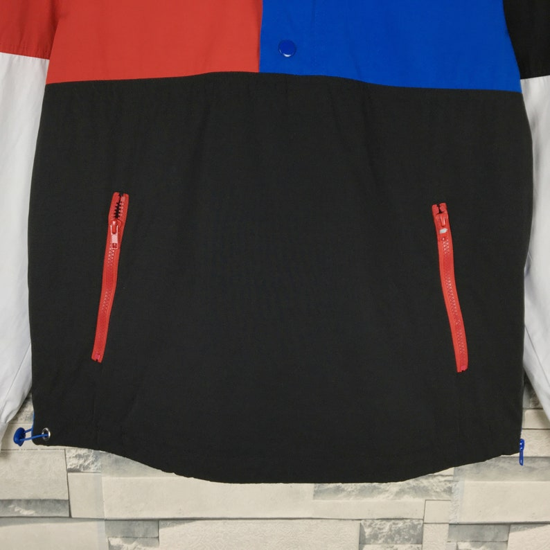 Forever Colorblock Light Jacket Medium Vintage Forever Japanese Brand Sport Light Half Zip Windbreaker Jacket Size M