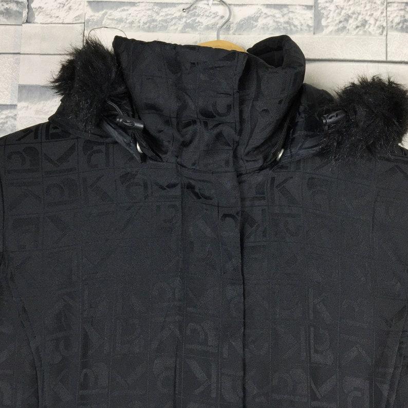 KRIZIA Women Duster Jacket Large Vintage Krizia Monogram Black Coat Duster Jacket Size Women L