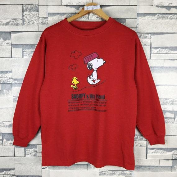 SNOOPY Sweatshirt Medium Vintage Snoopy Peanuts Wo