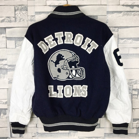 DETROIT LIONS Varsity Jacket Medium Vintage 90s De
