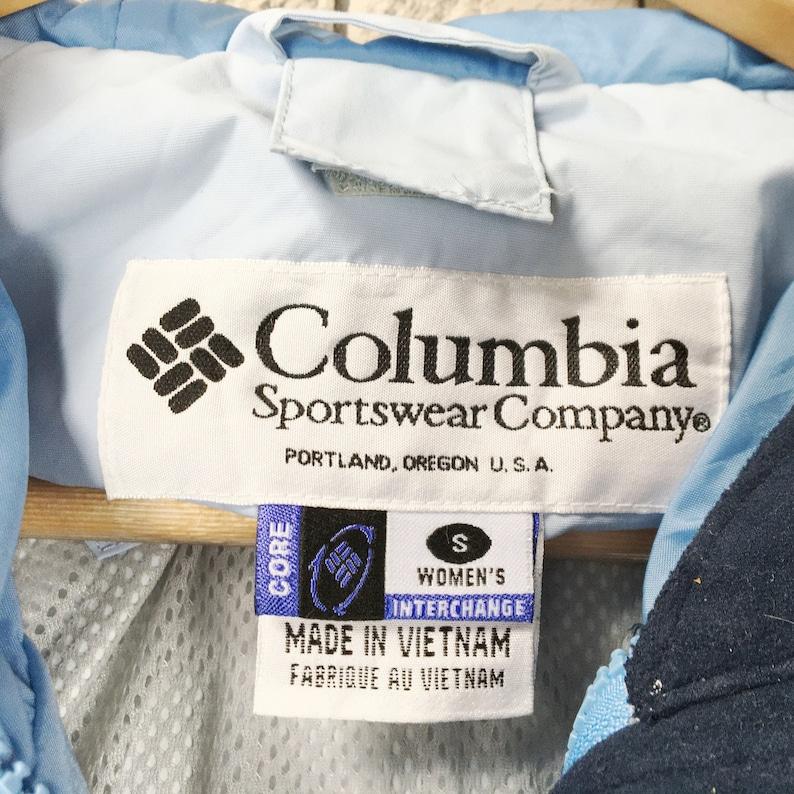 COLUMBIA Jacket Women Small Vintage 90s Columbia Sportswear Colorblock Hoodie Jacket Size Women S