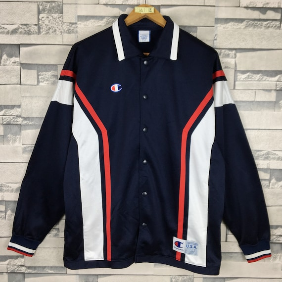 CHAMPION 90s Jacket Track Sweater Large Vintage Ch