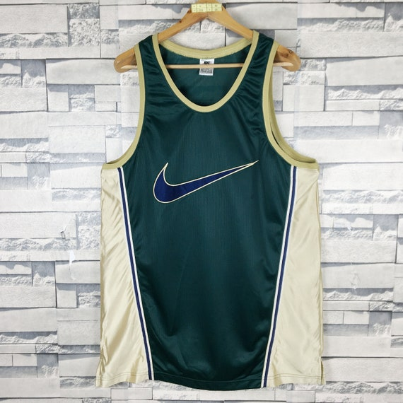 NIKE Swoosh Tank Top Jersey Large Vintage 90s Nike