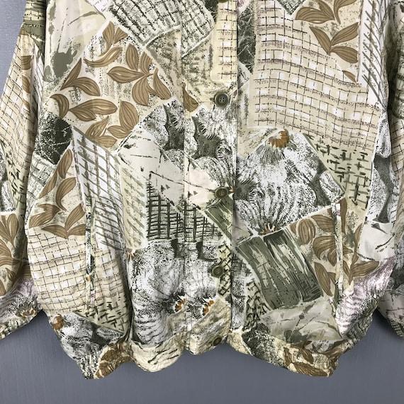 Karen Hart Silk Jacket Medium Vintage 90s Baroque… - image 7