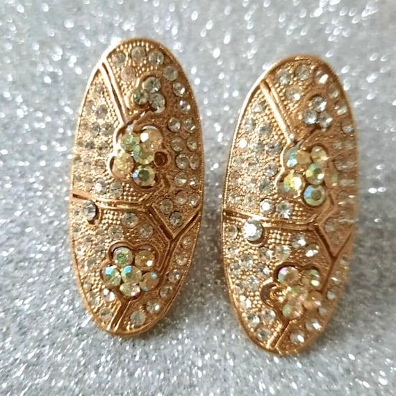 Bridal earrings ,Clear crystal earrings,Crystal ea