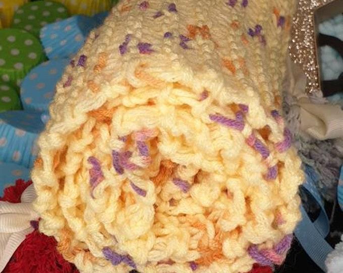 Super soft milk wool multi- colour scarf (Yellow Purple)