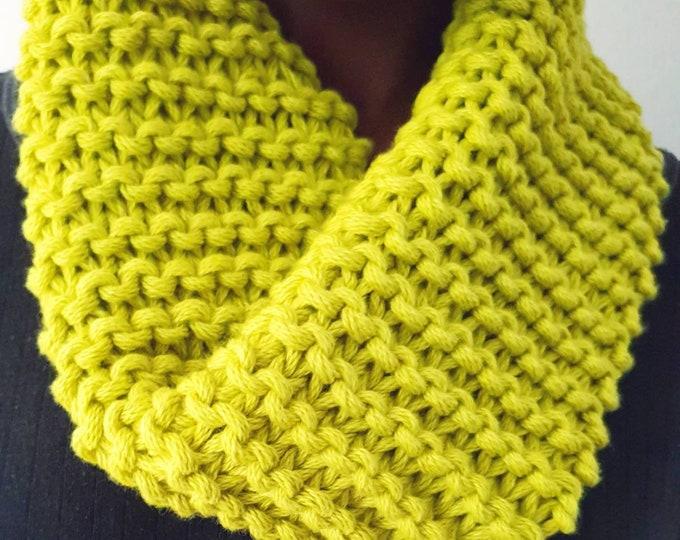 Gift idea- Neon yellow/green 100% cotton wool snood