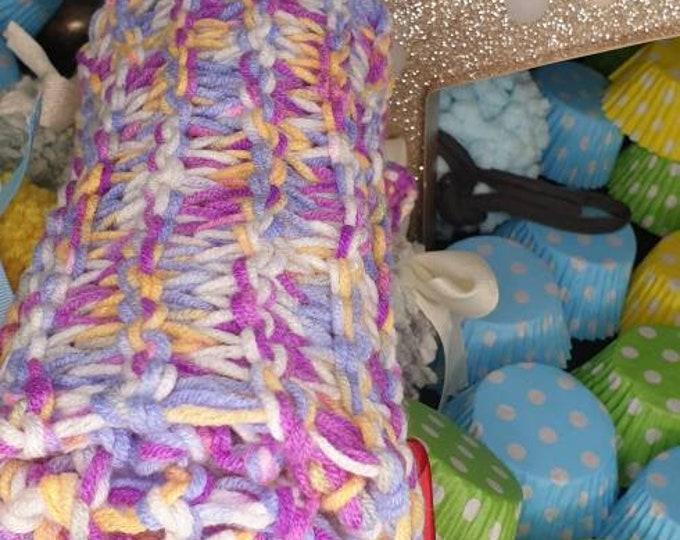 Super soft milk wool multi- colour scarf (Purple mix)